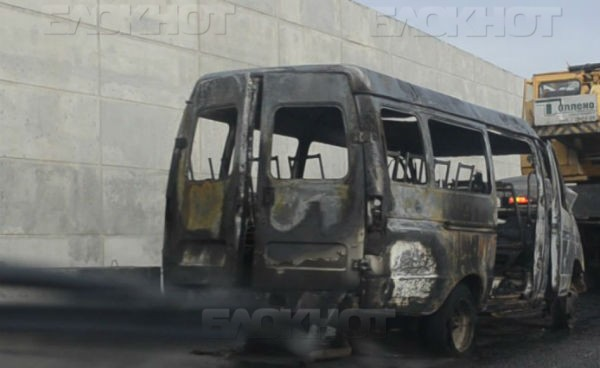 Движение на МКАД ограничено из-за сгоревшей «ГАЗели»