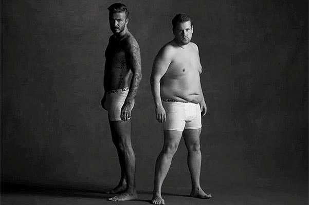 Дэвид Бекхэм снялся в пародии на рекламу нижнего белья