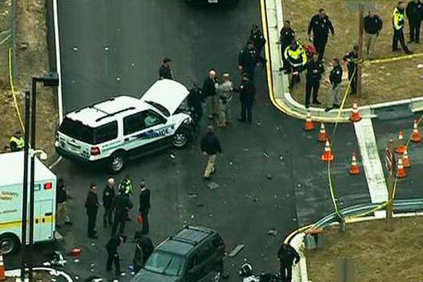 Мужчины в женской одежде пытались на машине протаранить ворота АНБ США
