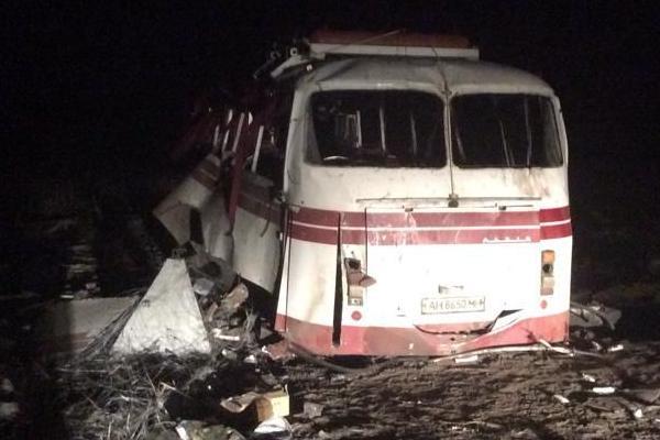 Водителя подорванного на мине автобуса задержали