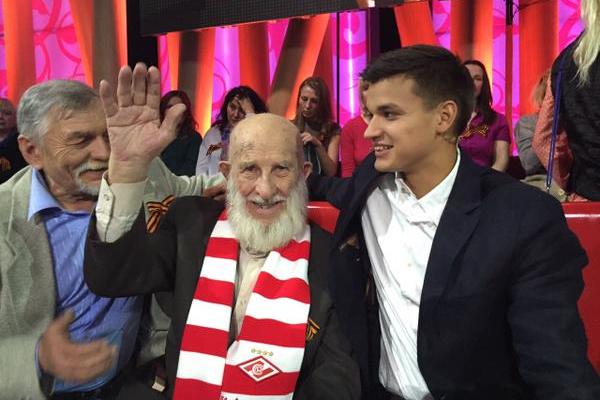 102-летний болельщик
