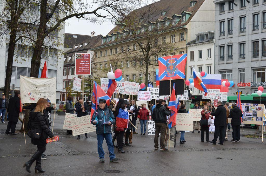 В Швейцарии прошел митинг в честь годовщины присоединения Крыма к России