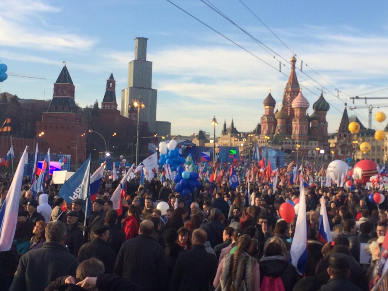 Путин выступил на митинге-концерте в честь присоединения Крыма