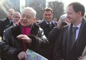 Олег Табаков и Владимир Мединский