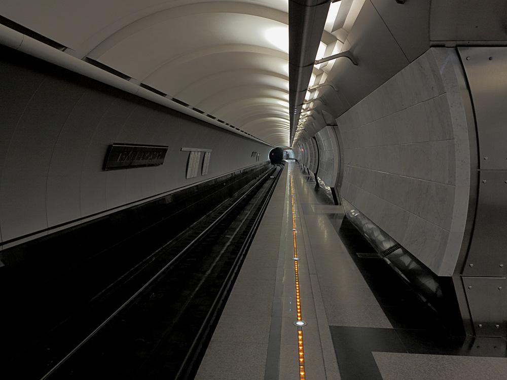 Мужчина спрыгнул на пути и пошел бродить по тоннелям московского метро