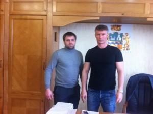 Слева Константин Вилков, справа Евгений Ройзман