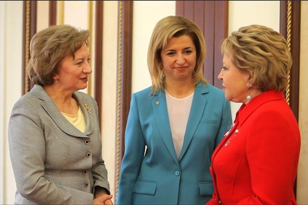 В Москве состоялась встреча Валентины Матвиенко с Зинаидой Гречаной и Ириной Влах