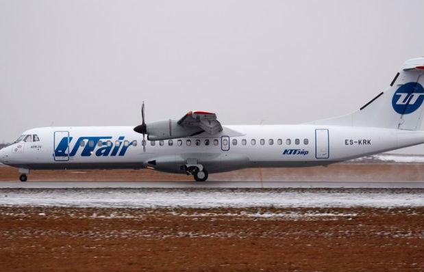 Самолет с пассажирами сдуло ветром со взлетной полосы в Курске