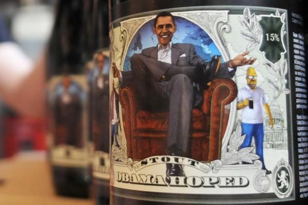 Пиво с улыбкой Барака Обамы незаконно выпустили во Львове