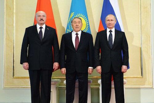 Путин, Назарбаев и Лукашенко записались в библиотеку и задумались о создании валютного союза