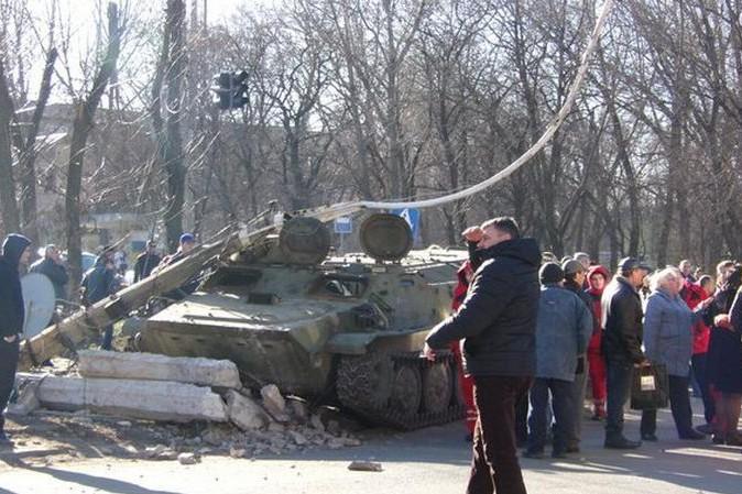 Появилось видео последствий восстания в Константиновке