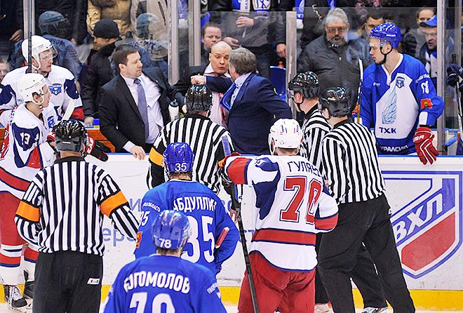 Итогом массовой драки на хоккее в Твери стала дисквалификация тренеров
