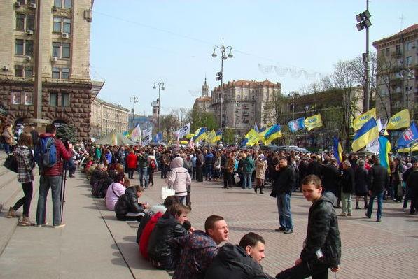 В Киеве снова бунтуют: Хотим гречку за 8 гривен!