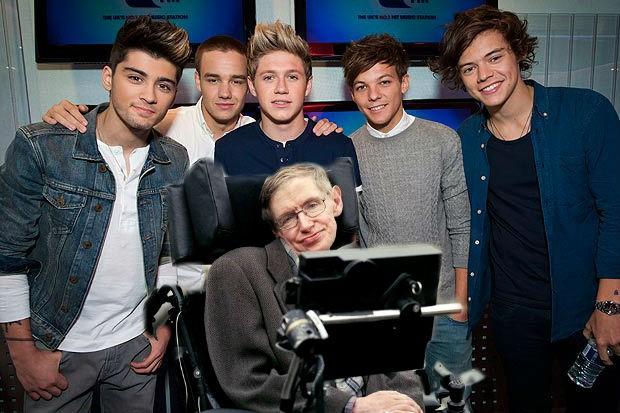 Стивен Хокинг осчастливил фанатов One Direction