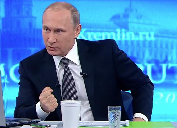 Военный и собака поставили Путина в