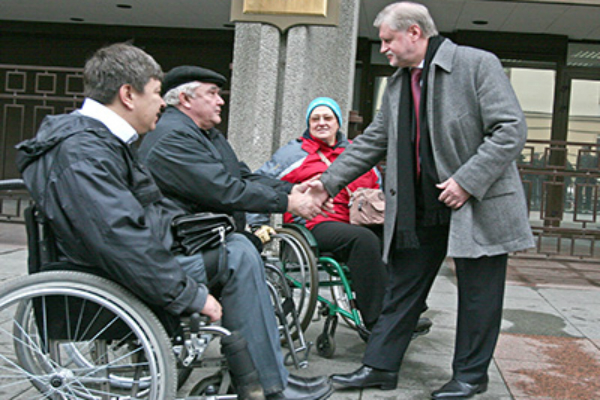 Миронов и инвалиды из