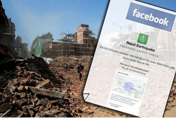 Facebook и Google помогут найти пропавших в Непале людей