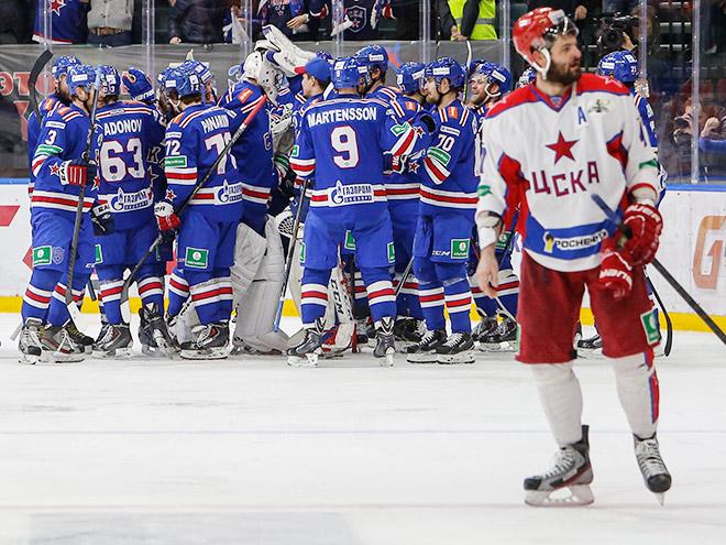 СКА в решающем матче переиграл ЦСКА и вышел в финал Кубка Гагарина