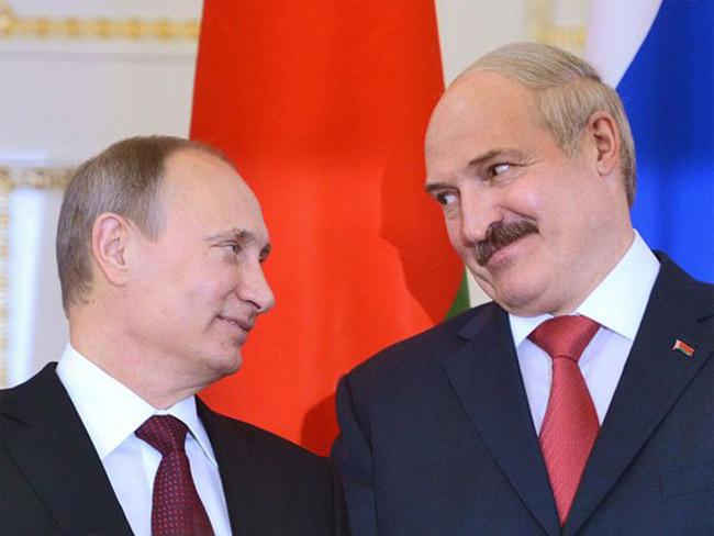Путин поздравил Лукашенко с Днем единения народов двух стран