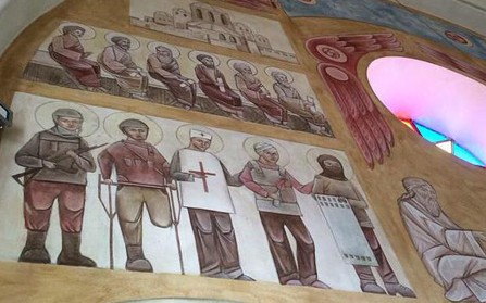 На стене храма во Львове нарисовали