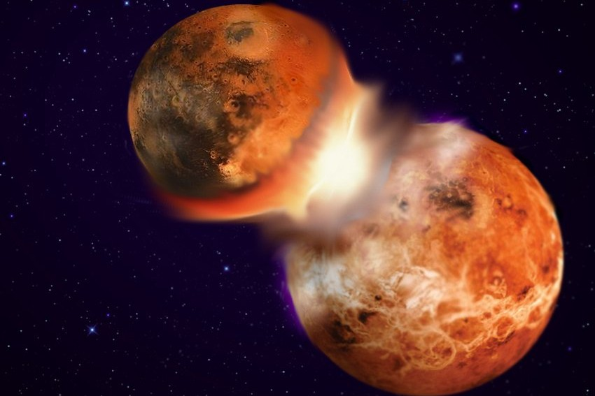 Ученые: Луна образовалась после столкновения Земли с планетой Тейя