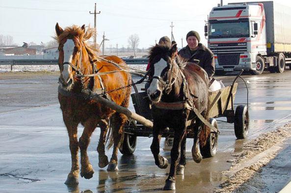 Украинского милиционера убили, привязав к телеге с лошадьми