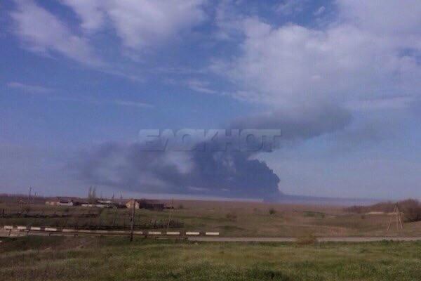 30 машин горят после взрыва на полигоне под Ростовом
