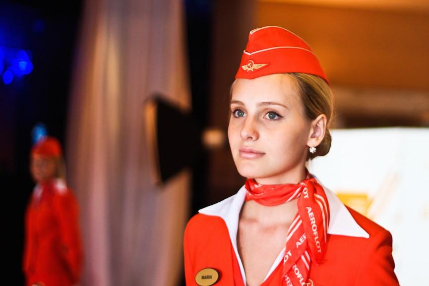 Секс в самолёте с женой и стюардессой