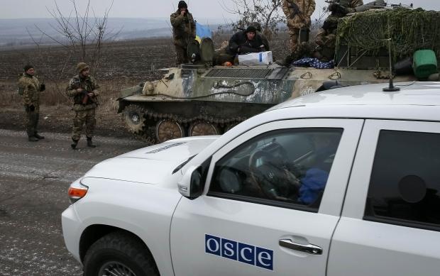 Бойцы ВСУ обстреляли из пулемета членов миссии ОБСЕ