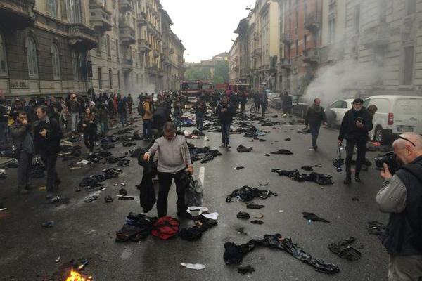 Более 10 полицейских стали жертвами беспорядков в Милане