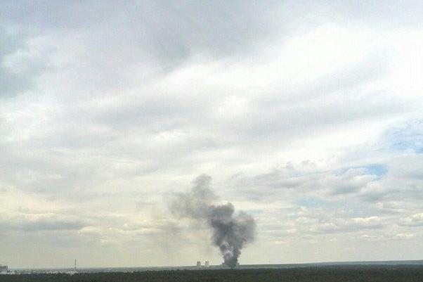 В Киеве возле ТЭЦ произошел крупный пожар