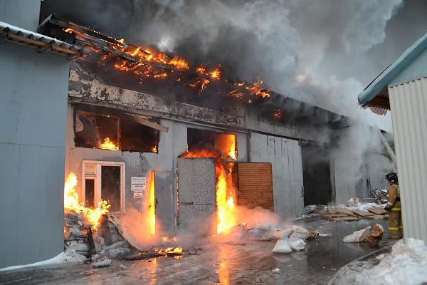 Крупный пожар на северо-востоке Москвы удалось потушить