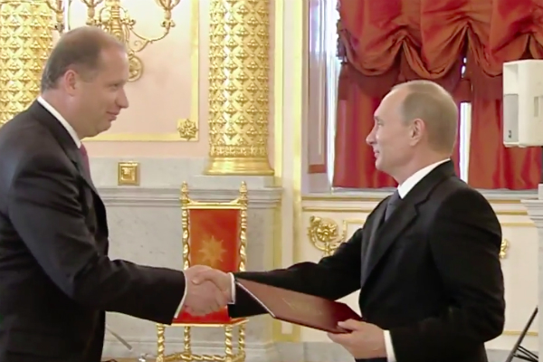 Путин принял верительную грамоту у Припутена