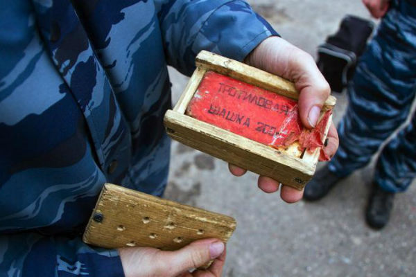 Сотрудники МВД Украины задержали торговца взрывчаткой