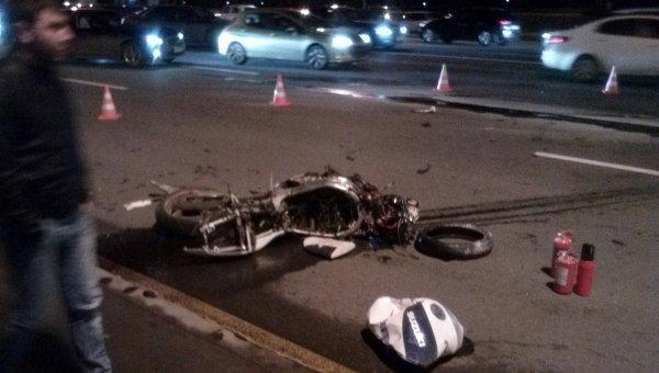 Водитель, сбивший байкера на Кутузовском проспекте, задержан следствием