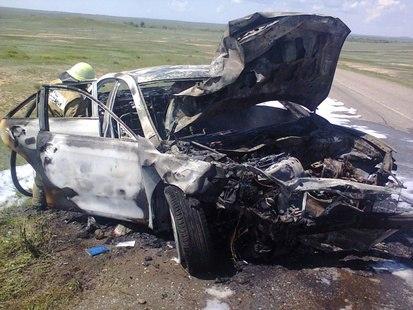 В страшном ДТП в Башкирии погибли 5 человек, в том числе дети