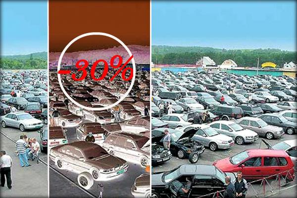 Продажи подержанных легковушек в России упали на 30%