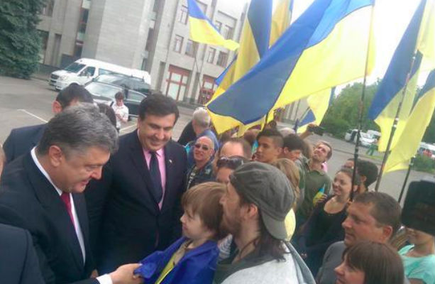 Порошенко представил одесситам нового губернатора Саакашвили