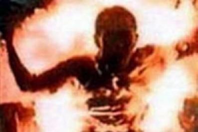 Украинский пенсионер сжег себя