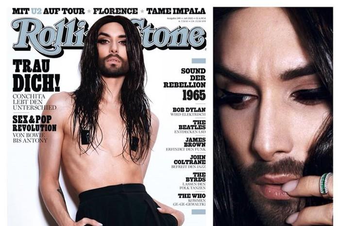 Обнаженная Кончита Вурст появилась на обложке Rolling Stone