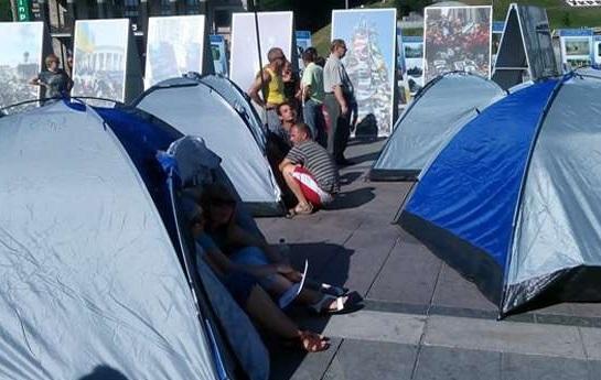 Организатор палаточного лагеря на Майдане задержан во время разгона акции протестующих