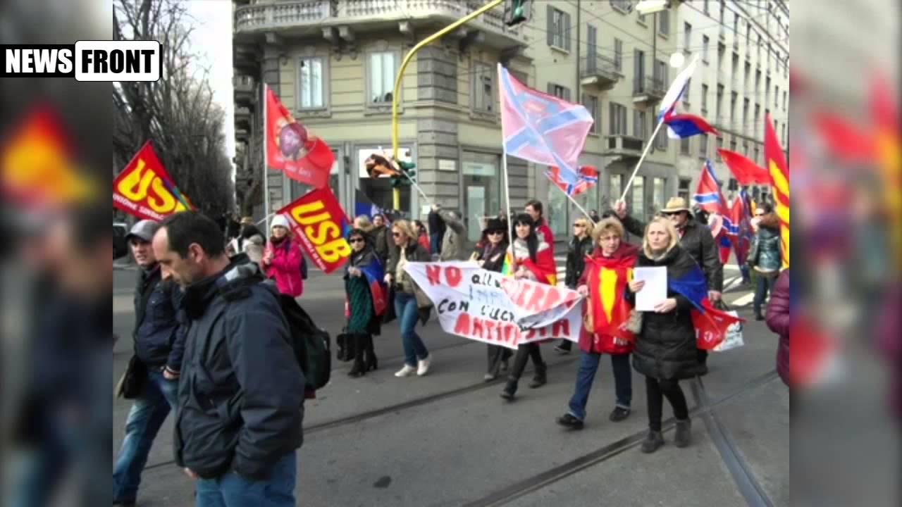 В Италии митинговали против антироссийских санкций