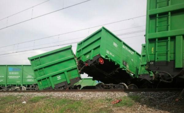 Поезд сошел с рельсов в Воронежской области