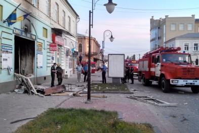 В украинском городе Сумы взорван офис националистической партии «Свобода»