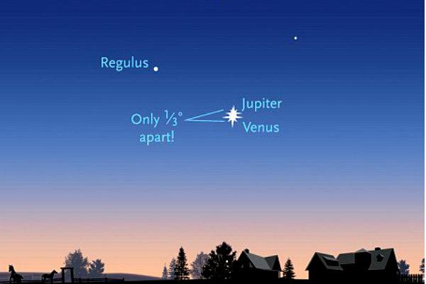 Венера и Юпитер в ночь на 1 июля сольются в двойную звезду