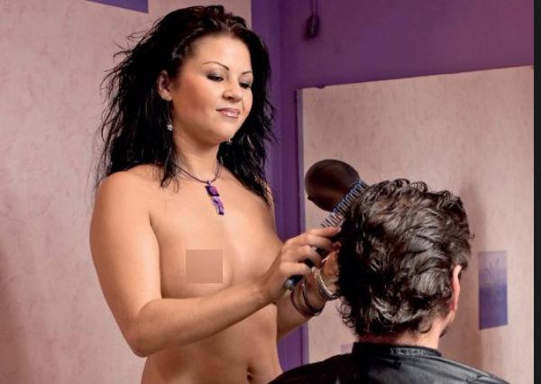 Секс фота с парихмахирской