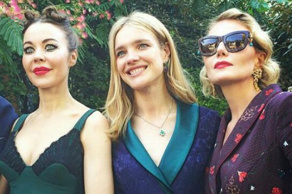 Рената Литвинова и Наталья Водянова приняли участие в открытии Недели высокой моды