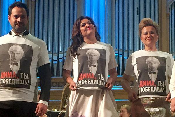 Оперные певцы Анна Нетребко и Ильдар Абдразаков поддержали Хворостовского необычным способом