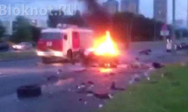 Появилось видео смертельного ДТП на северо-западе Москвы