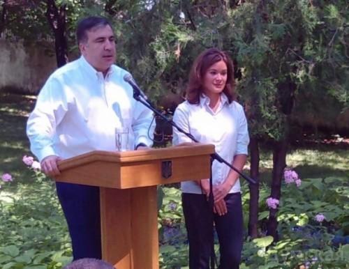 Михаил Саакашвили и Мария Гайдар